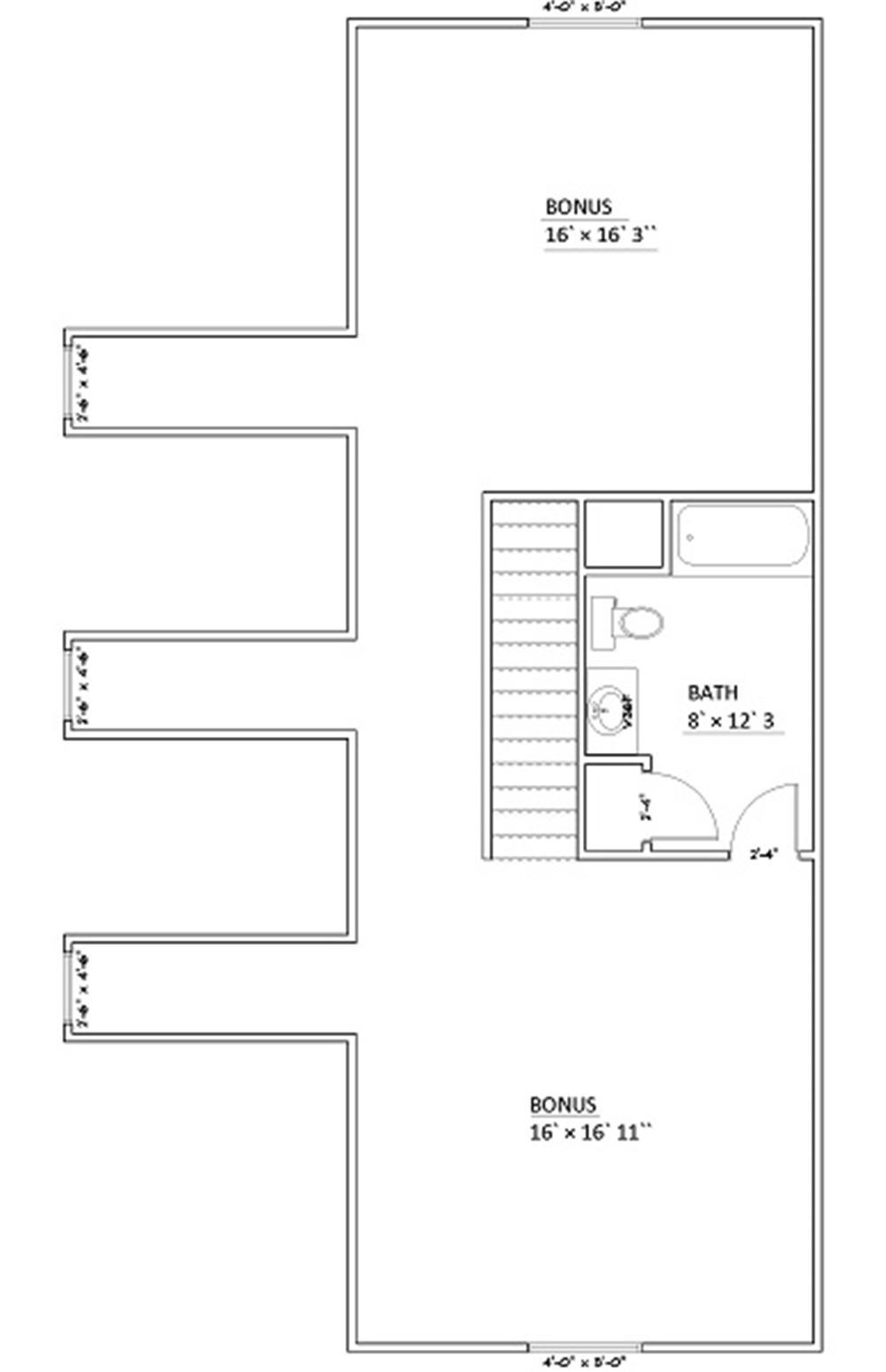 187-1006: Floor Plan Bonus Room