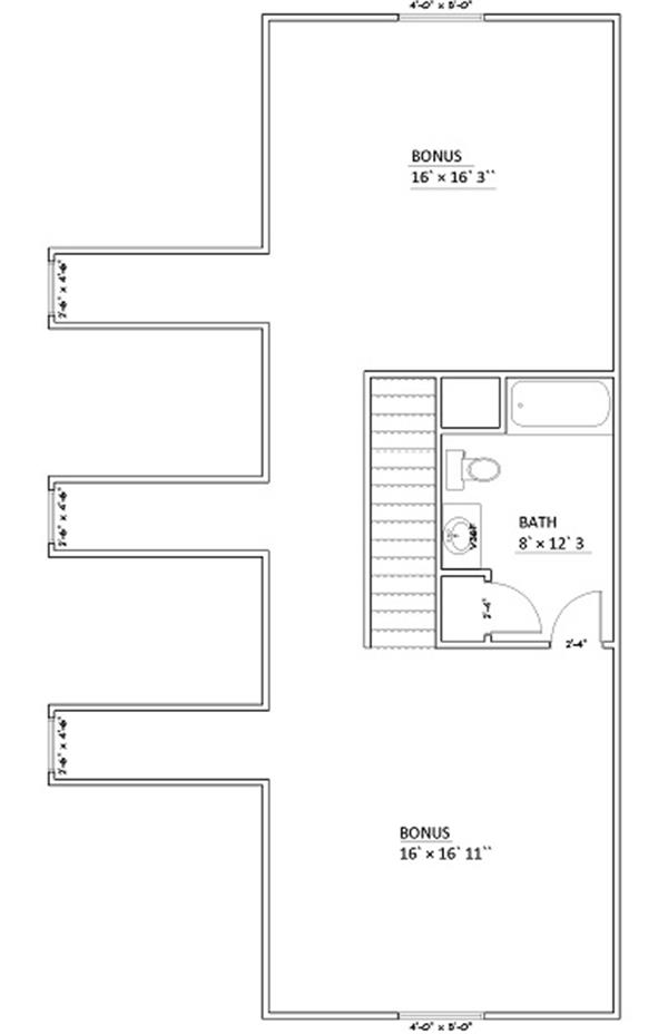 187-1006: Floor Plan Bonus Room