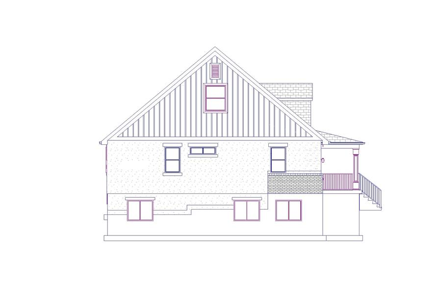 Home Plan Left Elevation of this 6-Bedroom,2643 Sq Ft Plan -187-1006