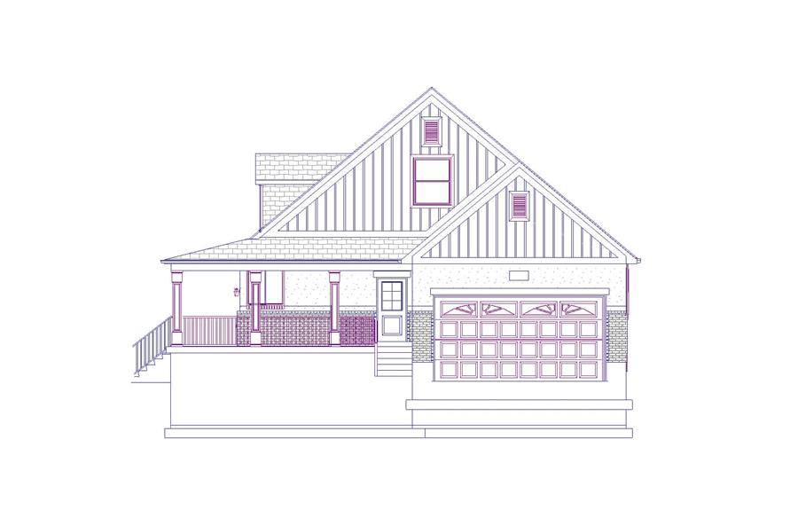 Home Plan Right Elevation of this 6-Bedroom,2643 Sq Ft Plan -187-1006