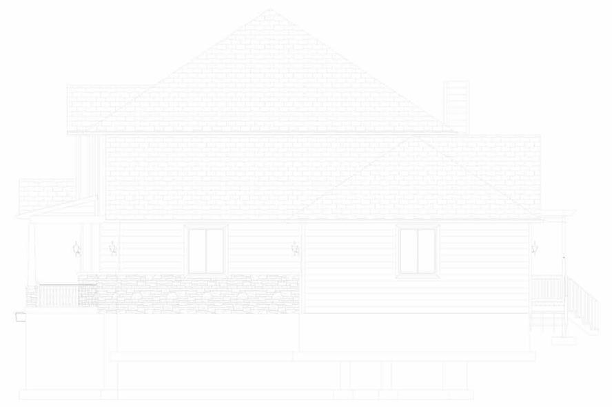 Home Plan Right Elevation of this 5-Bedroom,3016 Sq Ft Plan -187-1007