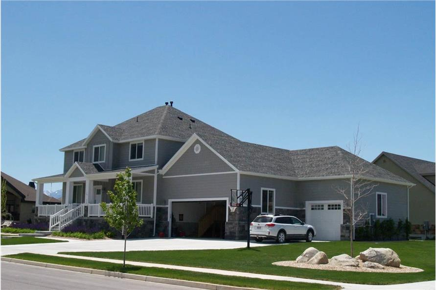 Right Side View of this 5-Bedroom,3016 Sq Ft Plan -187-1007