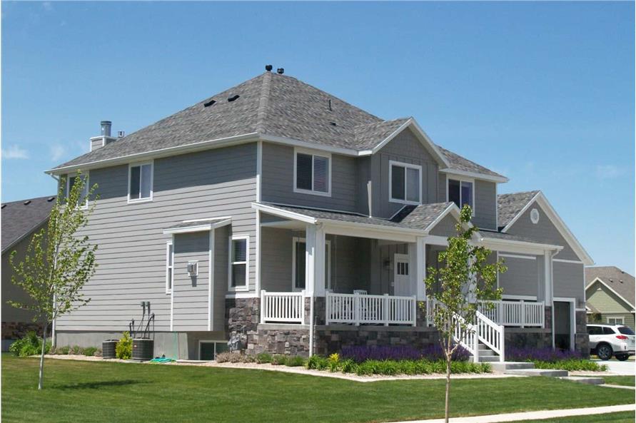 Left Side View of this 5-Bedroom,3016 Sq Ft Plan -187-1007