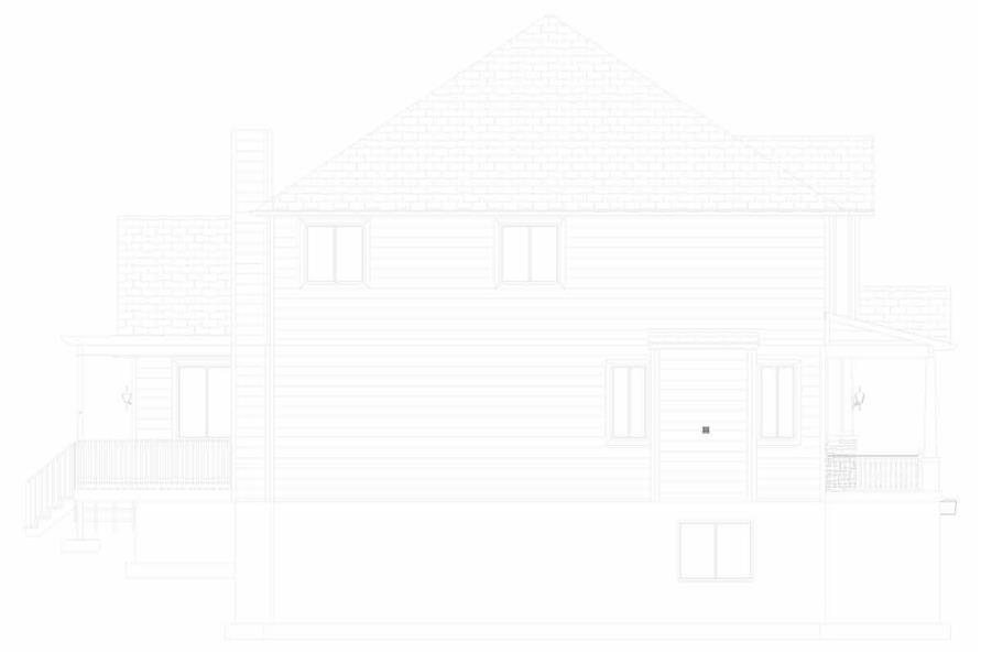 Home Plan Left Elevation of this 5-Bedroom,3016 Sq Ft Plan -187-1007