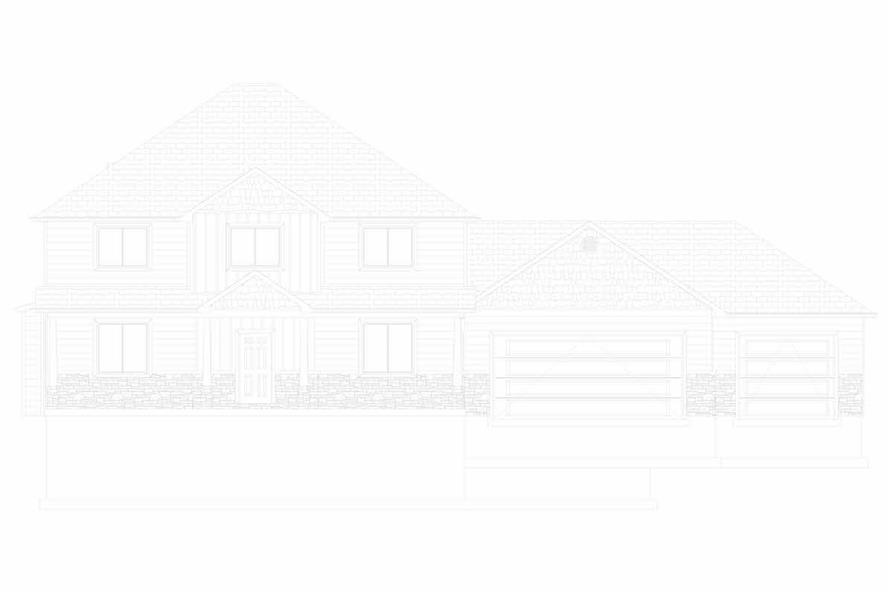 Home Plan Front Elevation of this 5-Bedroom,3016 Sq Ft Plan -187-1007
