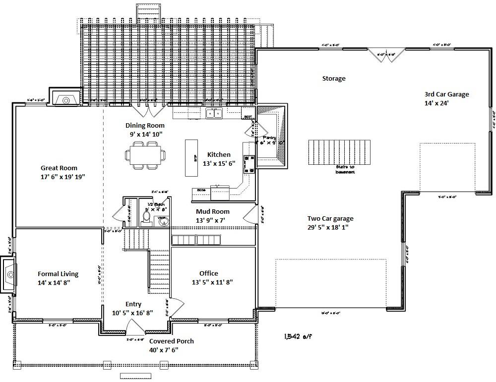 187-1007: Floor Plan Main Level
