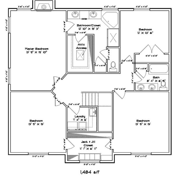 187-1007: Floor Plan Upper Level