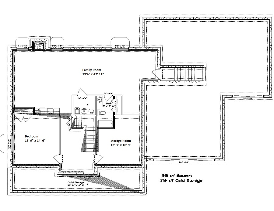 187-1007: Floor Plan Basement