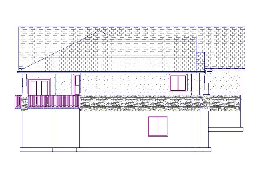 187-1008: Home Plan Left Elevation