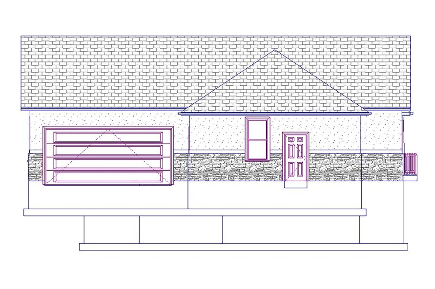 187-1008: Home Plan Right Elevation