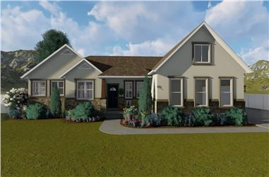2-Bedroom, 2712 Sq Ft Traditional Home - Plan #187-1008 - Main Exterior