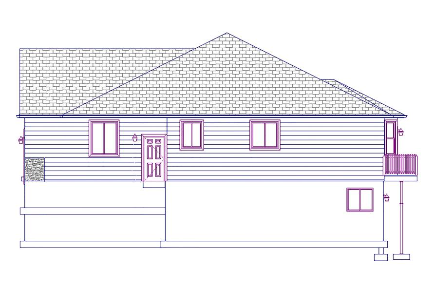 187-1011: Home Plan Right Elevation