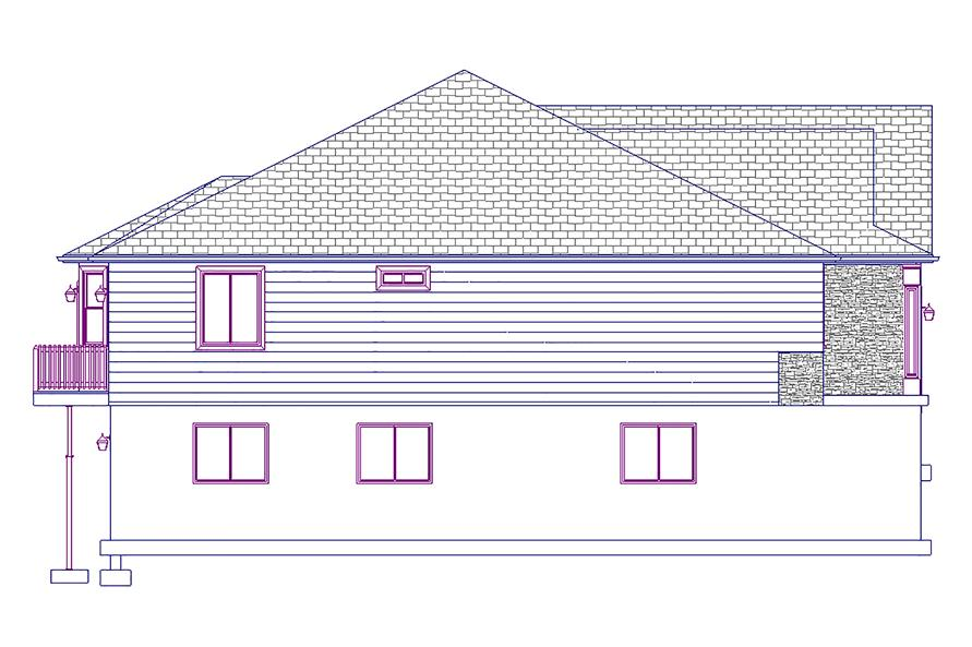 187-1011: Home Plan Left Elevation