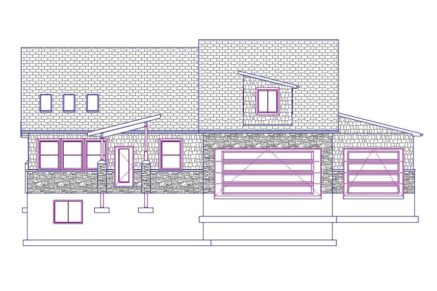187-1012: Home Plan Front Elevation