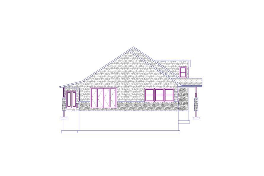 187-1012: Home Plan Left Elevation