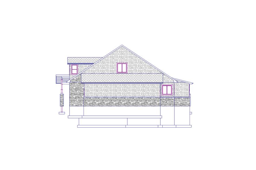 187-1012: Home Plan Right Elevation
