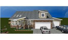 The Plan Collection: Front Elevation of Traditional House # 187-1012