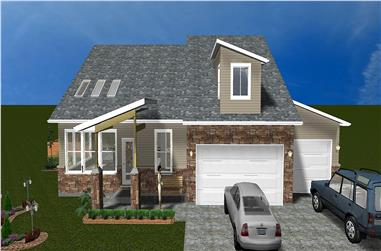 3-Bedroom, 2368 Sq Ft Traditional Home Plan - 187-1012 - Main Exterior
