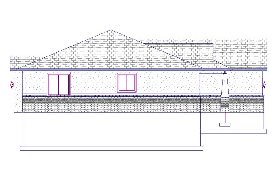 187-1015: Home Plan Left Elevation