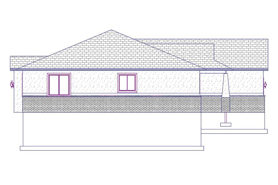 187-1015: Home Plan Left Elevation