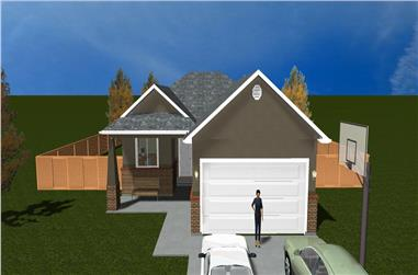 5-Bedroom, 1553 Sq Ft Traditional Home Plan - 187-1015 - Main Exterior
