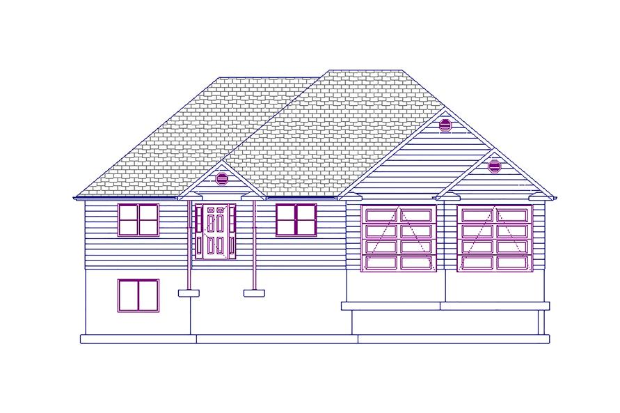 187-1017: Home Plan Front Elevation