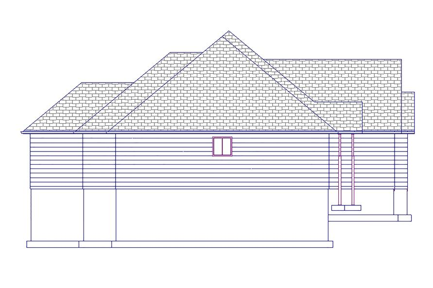 187-1017: Home Plan Left Elevation