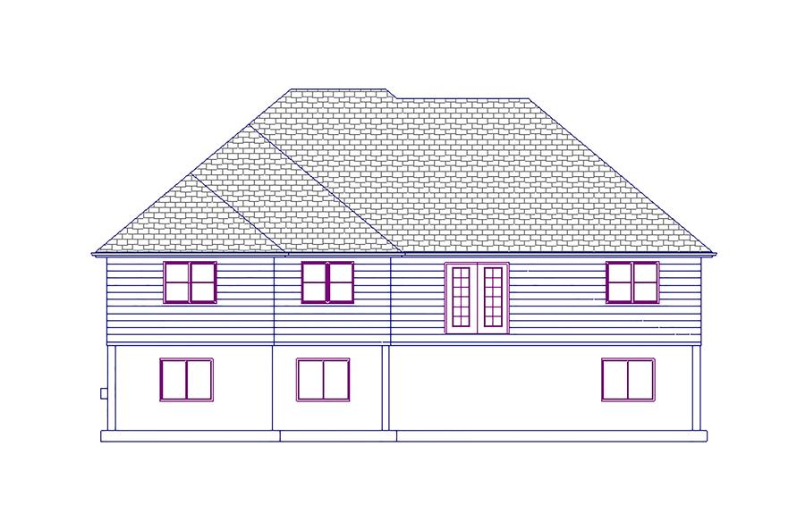 187-1017: Home Plan Rear Elevation