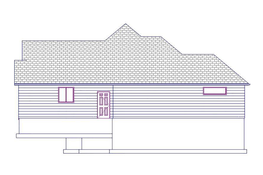 187-1017: Home Plan Right Elevation