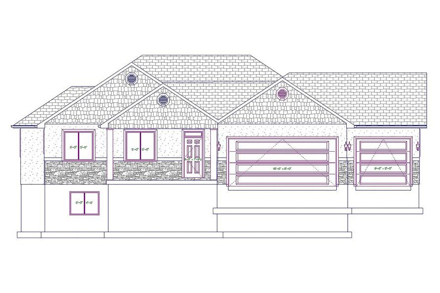 187-1020: Home Plan Front Elevation