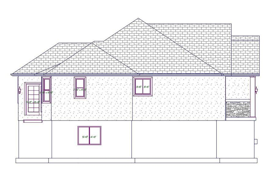 187-1020: Home Plan Left Elevation