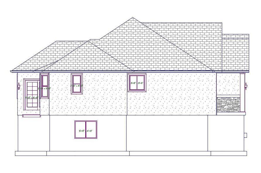 187-1020: Home Plan Left Elevation