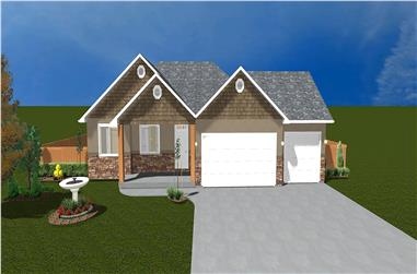 The Plan Collection: Front Elevation of Traditional House # 187-1020