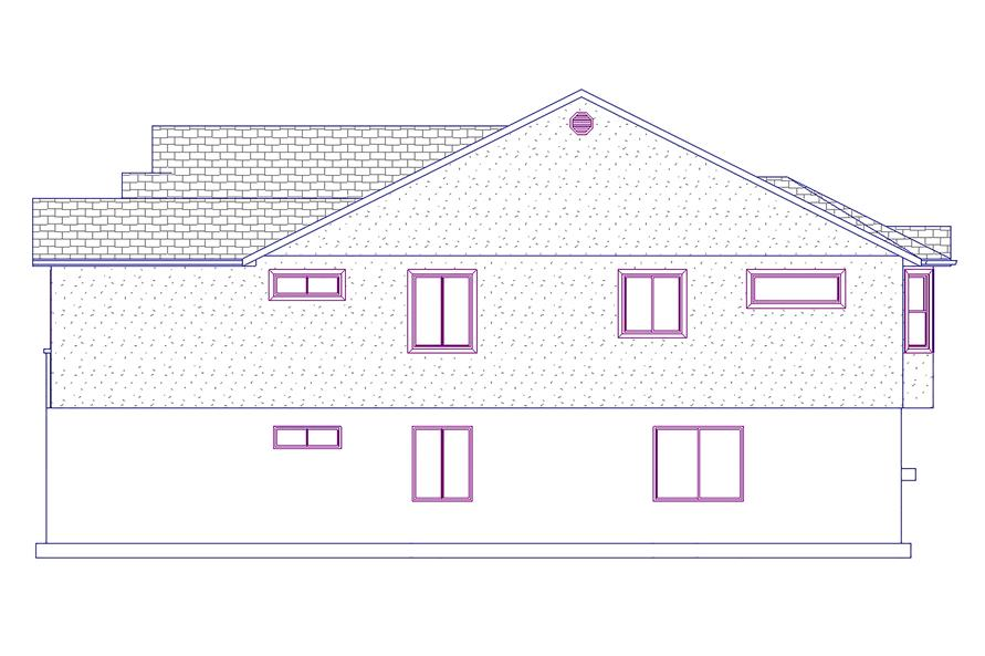 187-1021: Home Plan Right Elevation