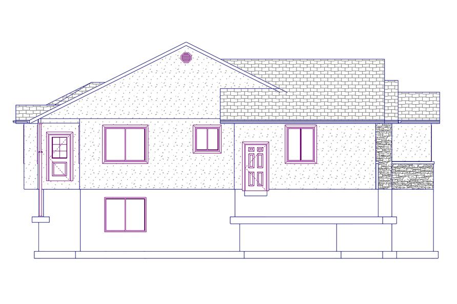 187-1021: Home Plan Left Elevation