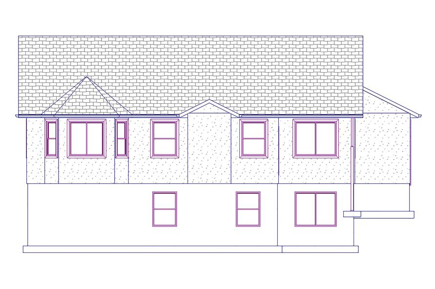187-1021: Home Plan Rear Elevation