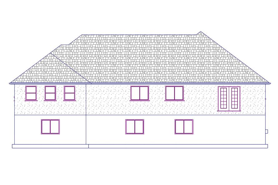 187-1022: Home Plan Rear Elevation