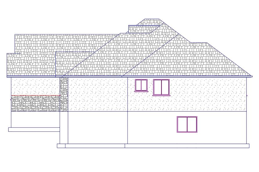 187-1022: Home Plan Right Elevation