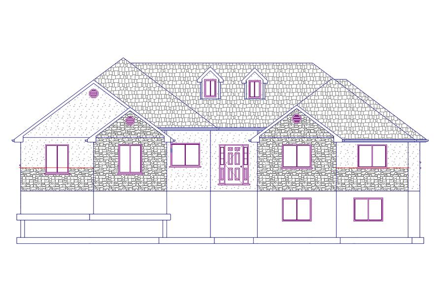 187-1022: Home Plan Front Elevation
