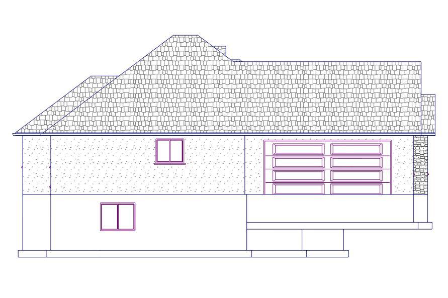 187-1022: Home Plan Left Elevation