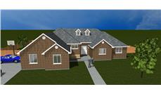 The Plan Collection: Front Elevation of Traditional House # 187-1022