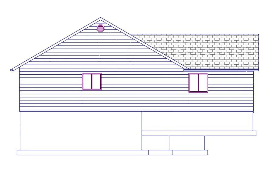 187-1023: Home Plan Left Elevation