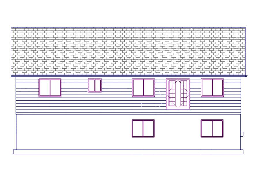 187-1023: Home Plan Rear Elevation