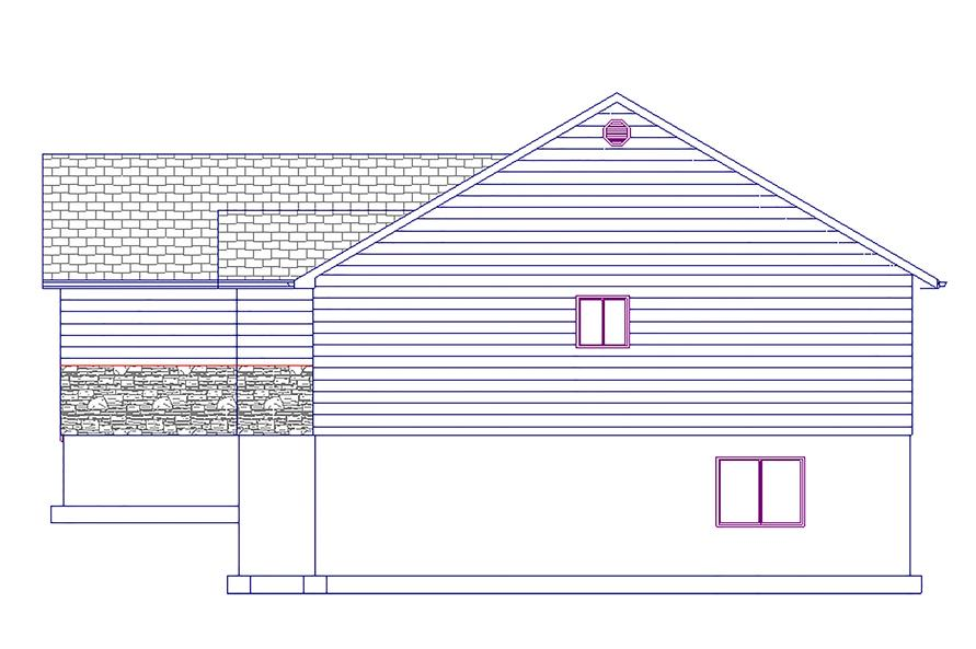 187-1023: Home Plan Right Elevation
