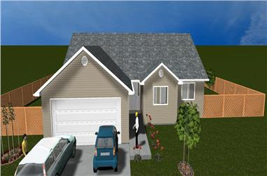 5-Bedroom, 1579 Sq Ft Traditional Home Plan - 187-1023 - Main Exterior