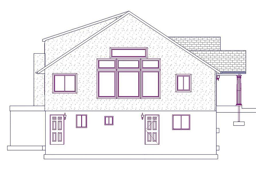 Home Plan Left Elevation of this 5-Bedroom,2920 Sq Ft Plan -187-1025