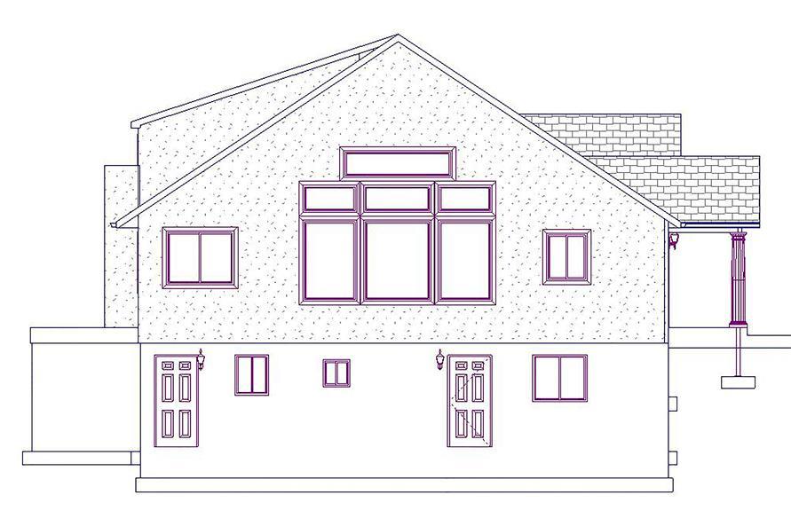 187-1025: Home Plan Left Elevation