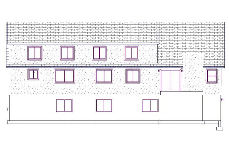 187-1025: Home Plan Rear Elevation