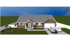 The Plan Collection: Front Elevation of Traditional House # 187-1025