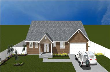 5-Bedroom, 2920 Sq Ft Traditional Home Plan - 187-1025 - Main Exterior